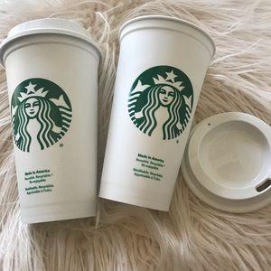 Set of 2 Starbucks Reusable Hot Cups